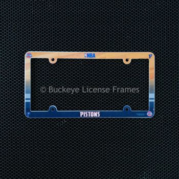 Detroit Pistons Full Color Plastic License Plate Frame