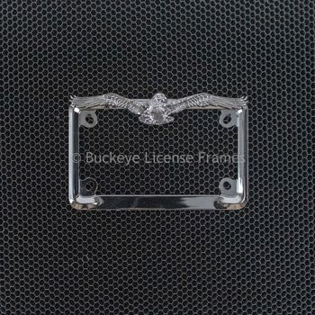 Eagle Chrome Motorcycle License Plate Frame - Metal