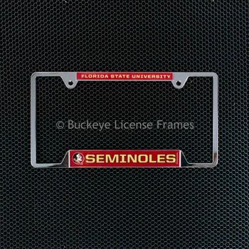 Florida State University Seminoles Chrome License Plate Frame - Metal