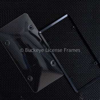 Black Framed Protective Bubble Plate Cover