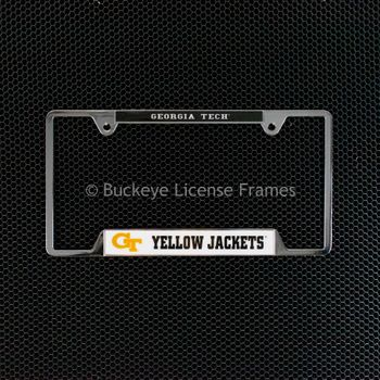 Georgia Tech Yellow Jackets Chrome License Plate Frame - Metal
