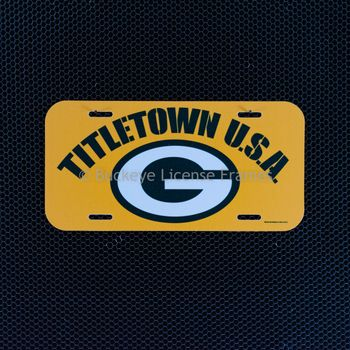 """Green Bay Packers """"TITLETOWN U.S.A."""" Plastic  License Plate"""
