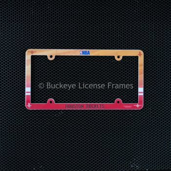 Houston Rockets Full Color Plastic License Plate Frame