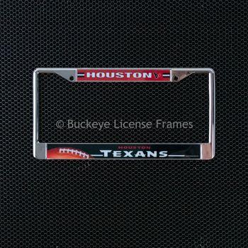 Houston Texans Chrome License Plate Frame - Metal