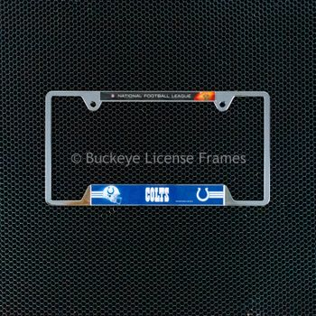 Indianapolis Colts Chrome License Plate Frame NFL Top