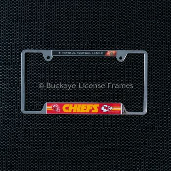 Kansas City Chiefs Chrome License Plate Frame - Metal