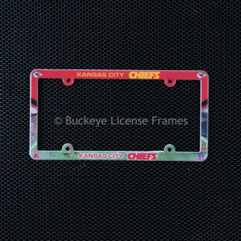Kansas City Chiefs Full Color Plastic License Plate Frame