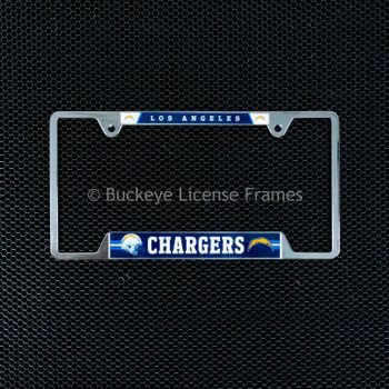 Los Angeles Chargers Chrome License Plate Frame - Metal
