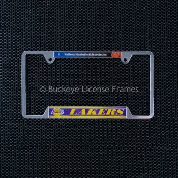 Los Angeles Lakers Chrome License Plate Frame - Metal