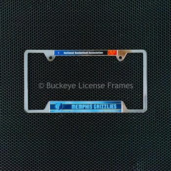 Memphis Grizzlies Chrome License Plate Frame - Metal