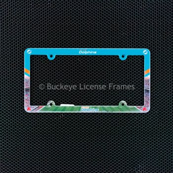 Miami Dolphins Full Color Plastic License Plate Frame