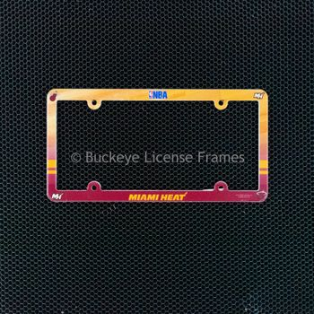 Miami Heat Full Color Plastic License Plate Frame