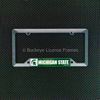 Michigan State University Spartans Black Plastic License Frame