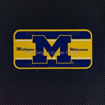 "University of Michigan Wolverines ""M"" Plastic License Plate"