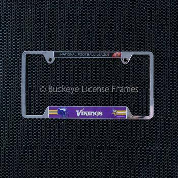 Minnesota Vikings Chrome License Plate Frame - Metal