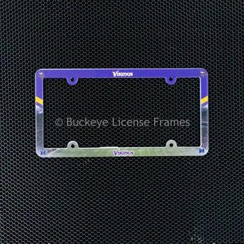 Minnesota Vikings Full Color Plastic License Plate Frame