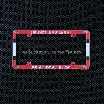 University Of Nevada -Las Vegas Rebels Full Color Plastic License Plate Frame