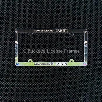 New Orleans Saints Full Color Plastic License Plate Frame