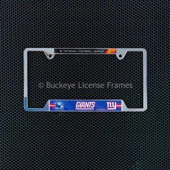 New Orleans Saints Chrome License Plate Frame - Metal