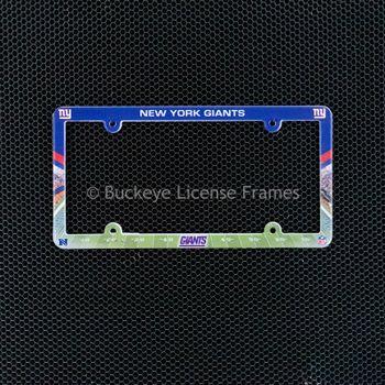 New York Giants Full Color Plastic License Plate Frame