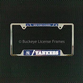 New York Yankees Chrome License Plate Frame - Metal