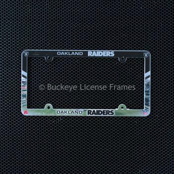 Oakland Raiders Full Color Plastic License Plate Frame