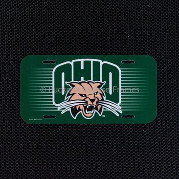 Ohio University Bobcats Logo Plastic License Plate