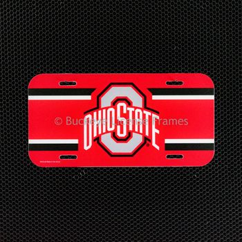 Ohio State Buckeyes Logo Plastic License Plate