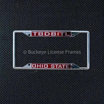 Ohio State University TBDBITL License Laser Inlaid Plate Frame - Metal