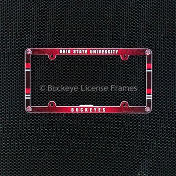 Ohio State University Buckeyes Full Color Plastic License Plate Frame