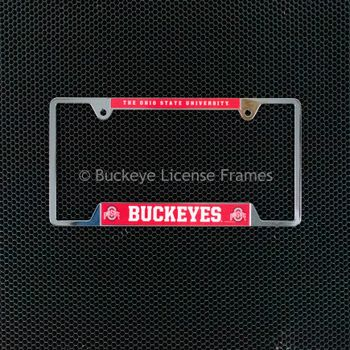 Ohio State University Chrome License Plate Frame - Metal