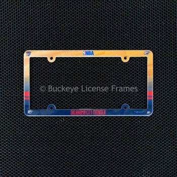Oklahoma City Thunder Full Color Plastic License Plate Frame