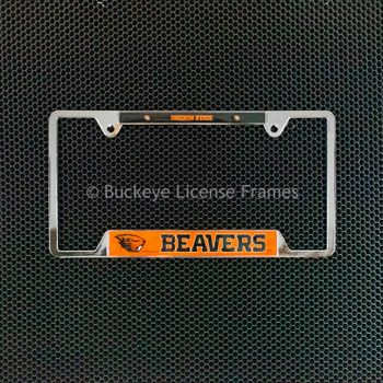 Oregon State University Beavers Chrome License Plate Frame - Metal