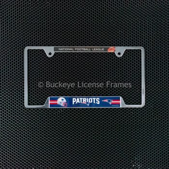 New England Patriots Chrome License Plate Frame - Metal