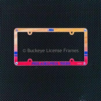 Philadelphia 76ers Full Color Plastic License Plate Frame