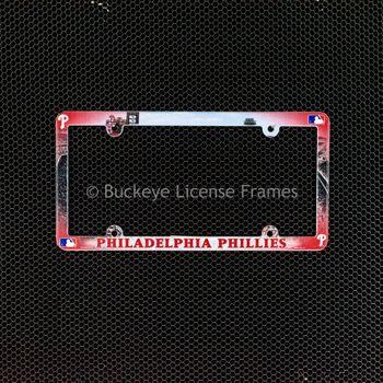Philadelphia Phillies Full Color Plastic License Plate Frame