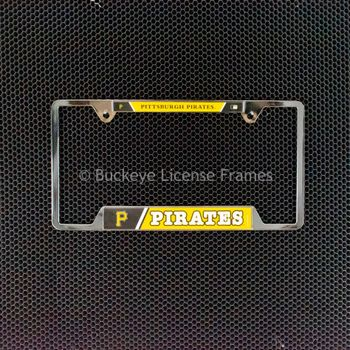 Pittsburgh Pirates Chrome License Plate Frame - Metal