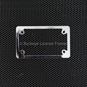 Chrome Plain Motorcycle License Plate Frame - Metal