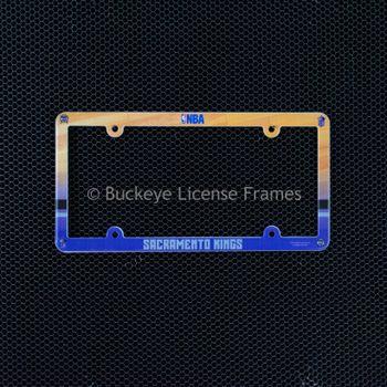Sacramento Kings Full Color Plastic License Plate Frame