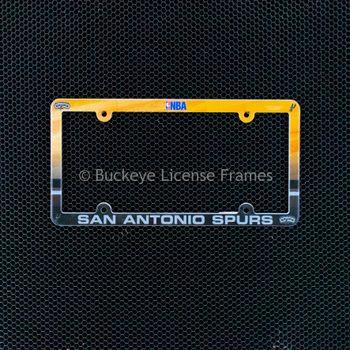 San Antonio Spurs Full Color Plastic License Plate Frame