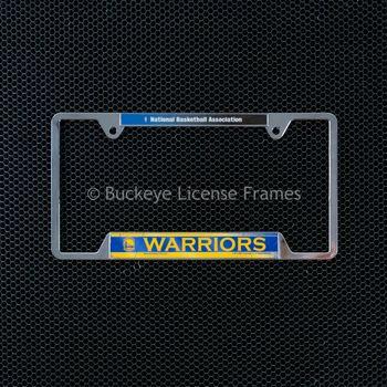 San Francisco Golden State Warriors Chrome License Plate Frame - Metal