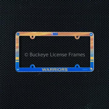 Golden State Warriors Full Color Plastic License Plate Frame