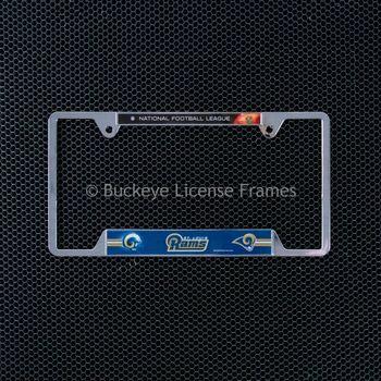 St. Louis Rams Chrome Metal License Plate Frame