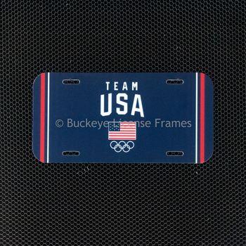 Olympic Team USA Plastic License Plate