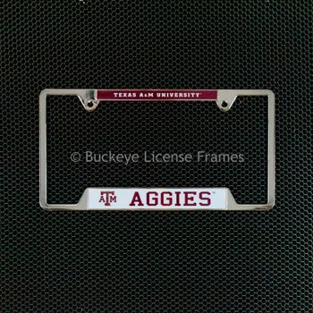 Texas A and M University  Chrome License Plate Frame - Metal