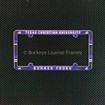 Texas Christian University Horned Frogs Full Color Plastic License Plate Frame