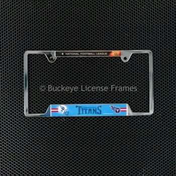 Tennessee Titans Chrome License Plate Frame - Metal - National Football League at Top