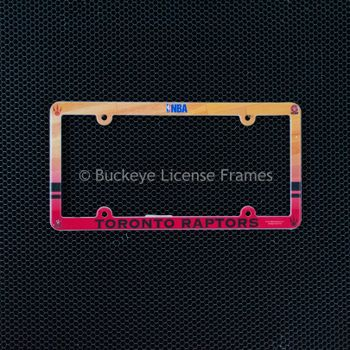 Toronto Raptors Full Color Plastic License Plate Frame