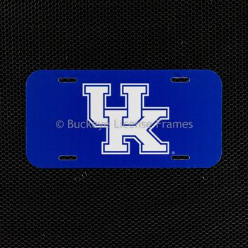 "University of Kentucky ""UK"" Plastic License Plate"