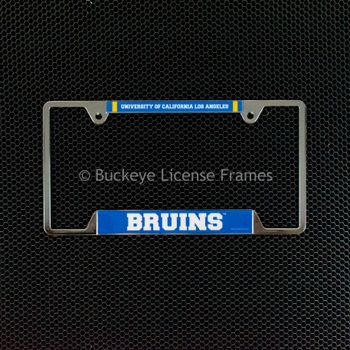 University of California Los Angeles UCLA Bruins Chrome License Plate Frame - Metal